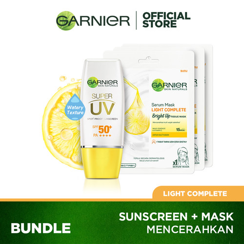 Foto Produk Garnier Super UV Light Complete Nat Finish + 3x Bright Up Mask dari Garnier Official