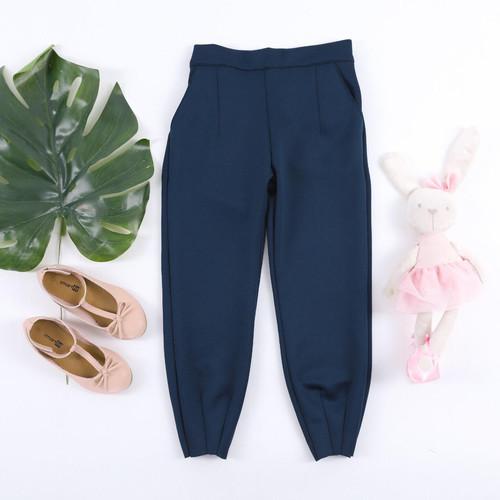 Foto Produk Celana scuba anak perempuan 1-10 Tahun, SPARKLE GUMMY PANTS - Navy, S dari uWa_store
