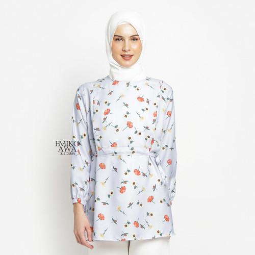 Foto Produk Baju Atasan Tunik Wanita Mahogany - Emikoawa Jumbo Busui Premium - Blue dari emikoawa
