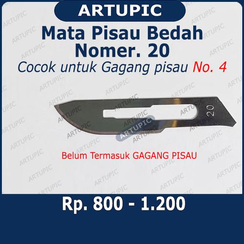 Foto Produk Mata Pisau Bedah Nomer 20 Surgical Blade Bisturi Scalpel Bedah Operasi dari ArtupicPeralatanPeternak