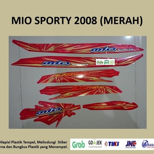 Foto Produk Mio sporty 2008 (merah) List Striping Stripping Stiker Sticker dari Nos 9