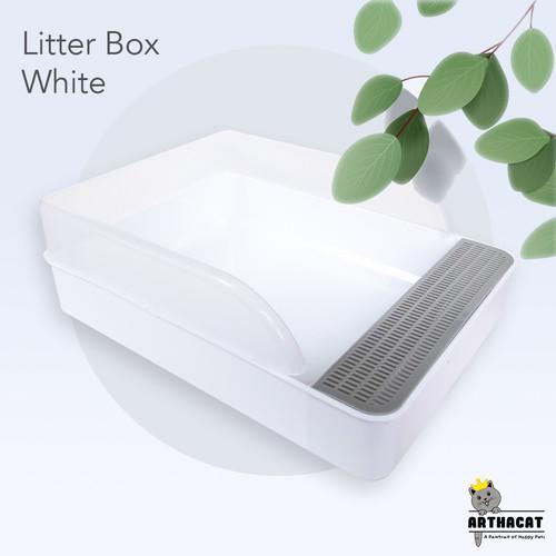 Foto Produk Arthacat Spacious Litter Box – Tempat Bak Toilet Pasir Kucing Besar - White dari arthacat.id