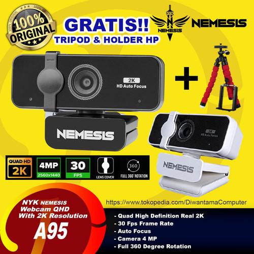 Foto Produk NYK Nemesis A95 ALBATROS Quad HD Gaming Webcam with 2k Resolution - Hitam dari Diwantama Computer