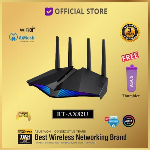 Foto Produk ASUS RT-AX82U AX5400 WiFi 6 With AiMesh AX 5400 WIFI6 Wireless Router - Free Tumbler dari DUNIA COMPUTER & SERVICE