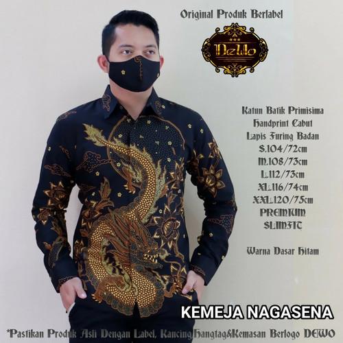 Foto Produk Wahyu Temurun Sogan Kemeja Batik Solo High Quality dari Jivan Batik
