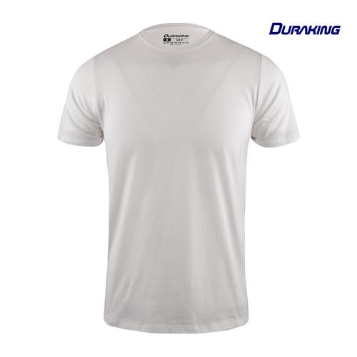 Foto Produk Duraking Kaos 100% Cotton SUPIMA Daily Wear White - M dari Duraking Outdoor&Sports