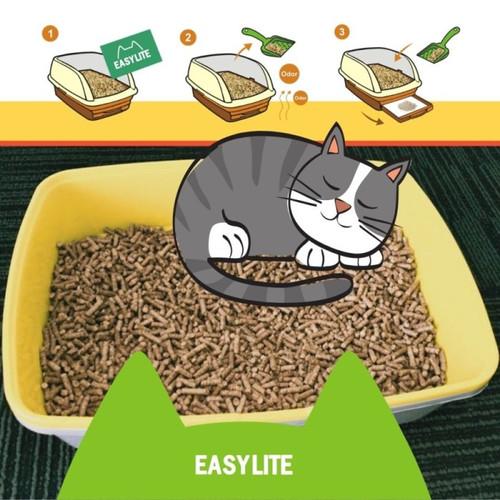 Foto Produk Wood Pellet Pelet Easy Lite 1 kg - Easy Lite Cat Litter 1kg dari Akbar Kelinci Tangerang