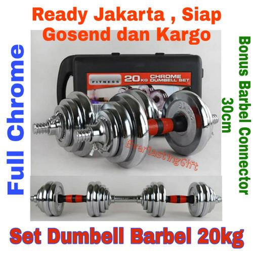 Foto Produk Dumbell Barbel Set Box Full Chrome 20kg Jaminan Termurah dari Everlasting Gift