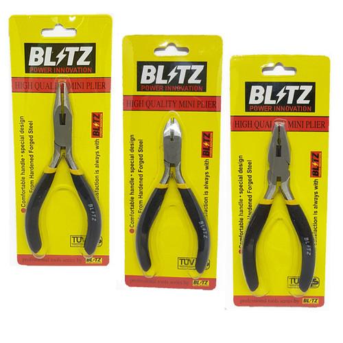 Foto Produk [PAKET] BLITZ 3 Set Tang Mini 4.5 Inch Tang Potong Kombinasi Lancip dari Mollar Official
