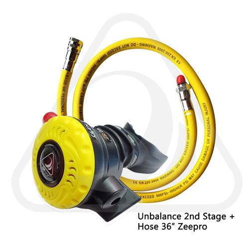 Foto Produk Diving Octopus Unbalanced 2nd Stage Spin + Hose 36 inch (90 cm) Zeepro dari Zeepro Bali
