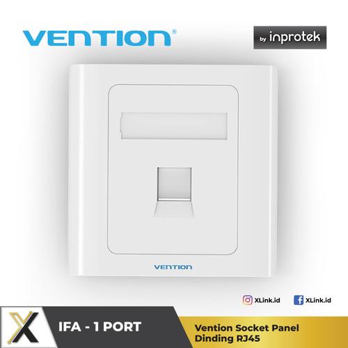 Foto Produk Vention Socket Panel Dinding RJ45 - IFA 1 Port dari XLink Jakarta