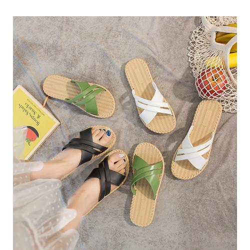 Foto Produk SH02 Sandal Wanita Import Non Slip Silang Cross - black, 39 dari Dneo Store