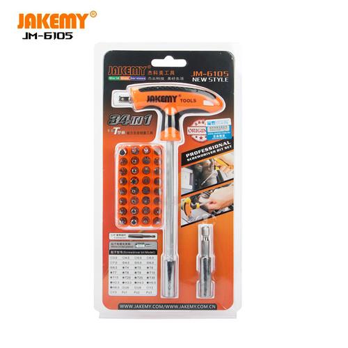Foto Produk Jakemy 32 in 1 T-Handle Screwdriver Set - JM-6105 dari HOUSE SPAREPART