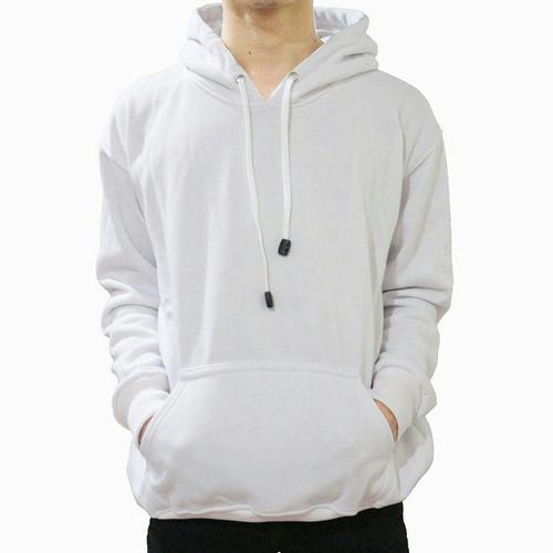 Foto Produk Jaket Sweater Polos Hoodie Jumper Putih Polos Pria - JUMPER PUTIH, M dari ilfe sport