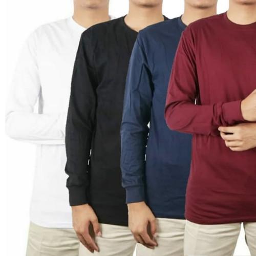 Foto Produk Kaos Polos Lengan Panjang Premium Cotton Combed 30 Pria Wanita - Putih Panjang, S dari kaospolos,47
