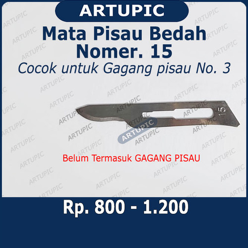 Foto Produk Mata Pisau Bedah Nomer 15 Surgical Blade Bisturi Scalpel Bedah Operasi dari ArtupicPeralatanPeternak