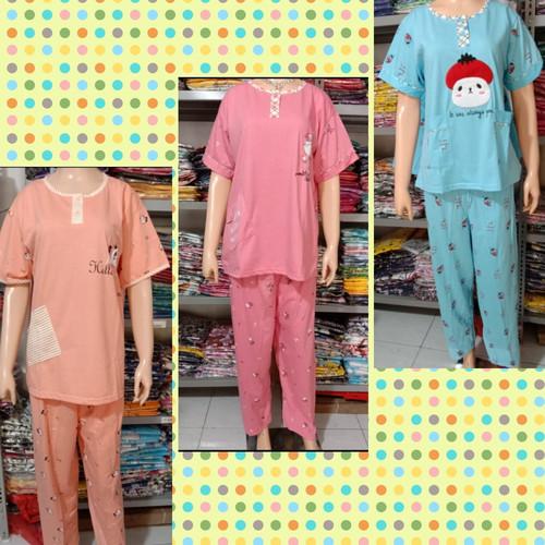 Foto Produk Baju tidur Tessa CP/PP/Hotpants/Daster fit to L & Jumbo - CP Jumbo dari cantik piyama