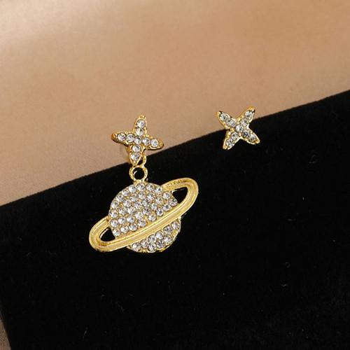 Foto Produk anting asimetris golden planet asymmetric earrings jan226 dari Oila