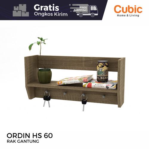 Foto Produk Cubic Rak Dinding Gantung Minimalis / Hanging Self / GENIO HS 60 dari Cubic Home & Living