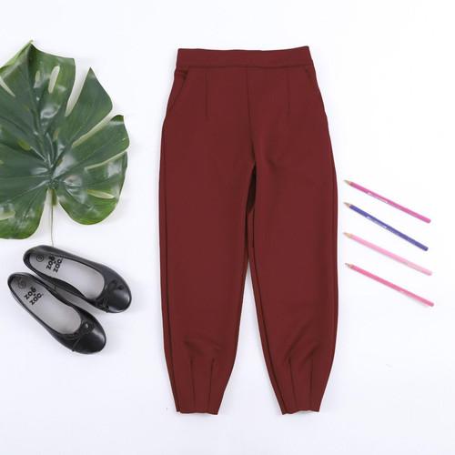 Foto Produk Celana scuba anak perempuan 1-10 Tahun, SPARKLE GUMMY PANTS - Maroon, L dari uWa_store