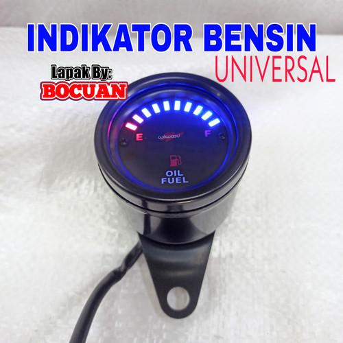 Foto Produk Ampere bensin meter bulat hitam motor indikator fuelmeter spidometer dari BO CUAN