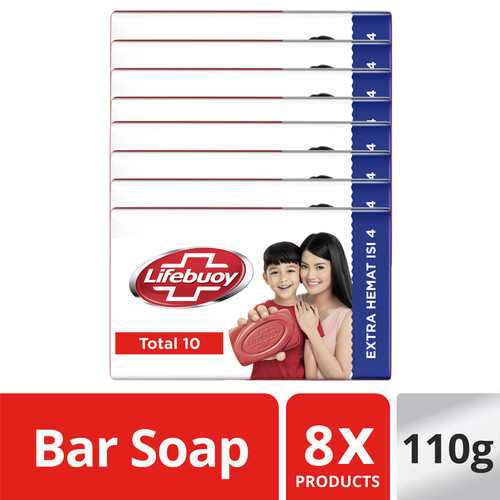 Foto Produk Lifebuoy Sabun Batang Total 10 110G isi 8 dari Unilever Official Store