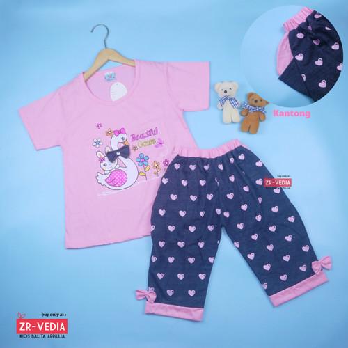 Foto Produk Setelan Lisa uk 1-8 Tahun / Baju Harian Anak Perempuan Kaos Cewek - 1-3 tahun, Merah dari ZR-Vedia