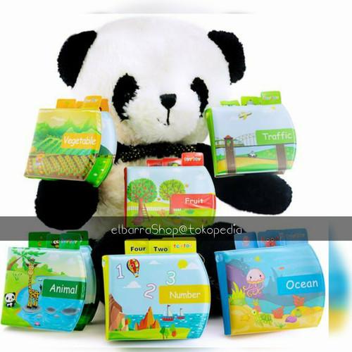 Foto Produk Buku Kain Anti Air Softbook Waterproof Bath book Mainan Edukasi Bayi - Vege dari Elbarra Shop
