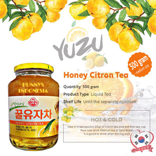 Foto Produk Yuzu Korea Yujacha Honey Citron Tea Ottogi Original Korea Paket 0,5 Kg dari Hunnys Indonesia