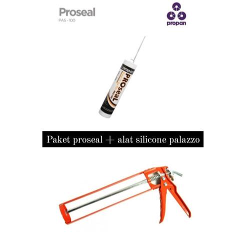 Foto Produk proseal acylic sealent pas clear - 100 + alat silicone palazzo dari BKO Wooden shop