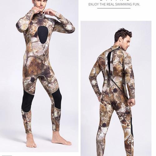 Foto Produk wetsuit camoflage neoprane 3MM onepiece resleting belakang dari Vacay Point