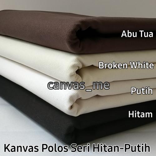 Foto Produk Kain Kanvas Polos Seri Hitam Putih - Putih dari canvas_me