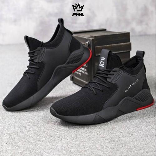 Foto Produk PHM Shoes Sepatu Pria Sneakers Import Sepatu Olahraga Kasual PHM109 - Hitam, 39 dari PHM Official Store
