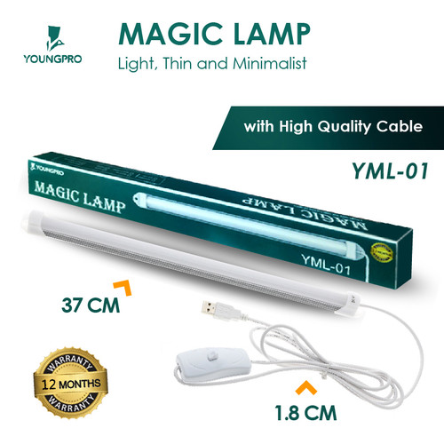 Foto Produk MAGIC LAMP LAMPU LED PANJANG PORTABLE USB LAMPU BELAJAR BACA ETALASE dari Accessories Solution(AS)