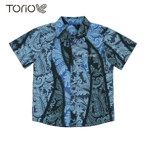 Foto Produk Torio Indonesian Smart Casual Blue Batik - Kemeja Batik Anak Laki-Laki - 1-2 tahun dari Torio