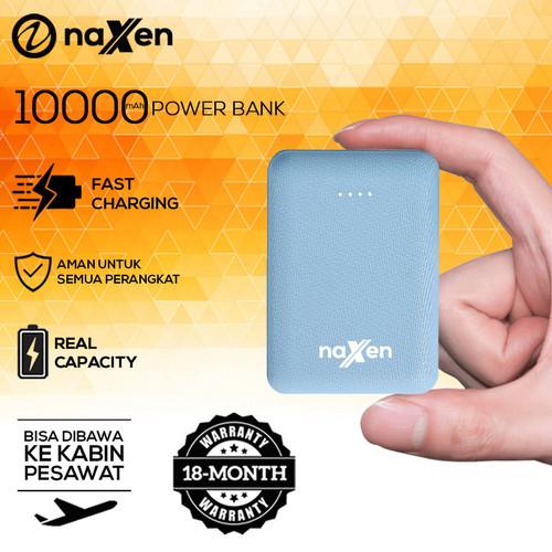 Foto Produk Naxen MiniBox PD26 Powerbank 10000mAh Dual Port Real Capacity - Biru Muda dari Naxen Official Store