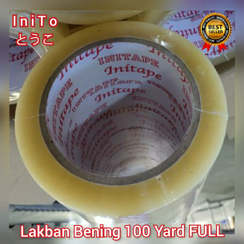 Foto Produk Lakban Bening 100 Yard FULL 45mm Tape Selotip Solasi Isolasi Solatip dari IniTo