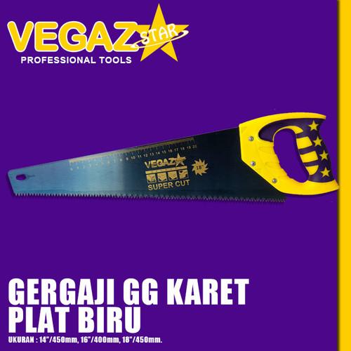 Foto Produk VEGAZSTAR - Gergaji Kayu Gagang Karet Plat Biru dari Vegaz-Tools
