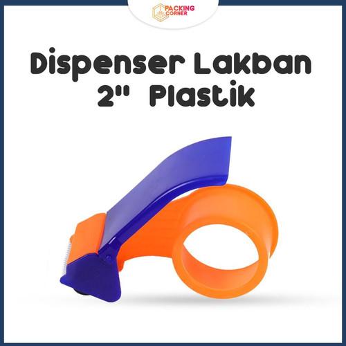 Foto Produk Dispenser Alat Pemotong Lakban 2 Inch Plastik Tempat Roll Cutter Tape dari Packing Corner
