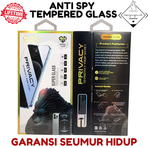 Foto Produk Anti Spy Tempered Glass AntiSpy Iphone 12 11 MINI PRO MAX Anti Gores - 12 MINI dari Caseayangan ID