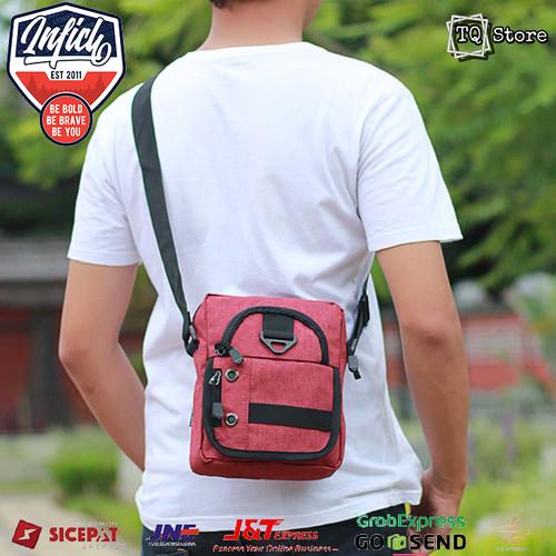 Foto Produk Tas Selempang Pria Kecil Simpel Inficlo Sling bag Cowok Mini Tas HP dari TQSTORE9