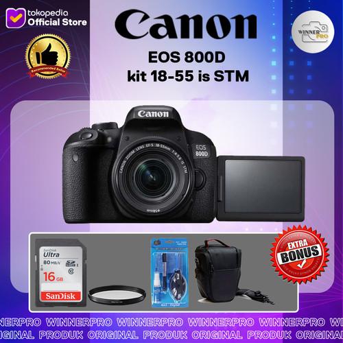Foto Produk kamera canon 800d kit 18-55 is STM paketan dari Winner Pro