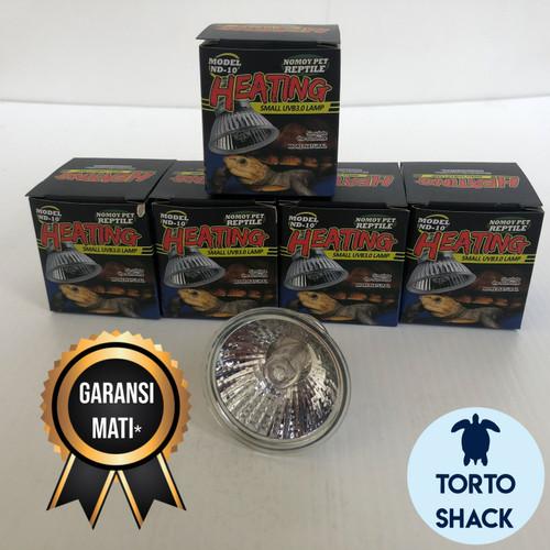 Foto Produk Lampu Nomoy UVA / UVB 50 W|Nomoy Pet ND-10|Lampu Reptil Murah|Halogen - 25 WATT dari Torto Shack