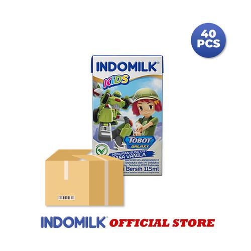Foto Produk Indomilk UHT Kids Vanila 115 ml X 40 Pcs dari Indomilk Official Store