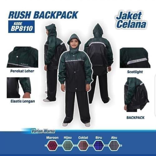 Foto Produk Jas hujan jaket celana Plevia 8110 Rush backpack dari BBTronik