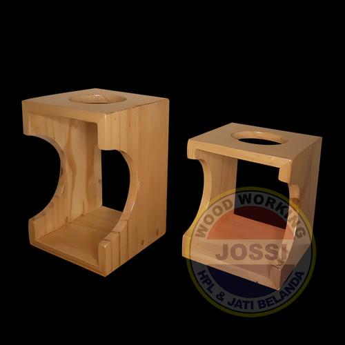 Foto Produk Wooden Stand Dripper V60 / Papan Seduh Manual Brew 1 Lubang - Besar dari Jossi Wood Working