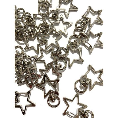 Foto Produk Star clasp bentuk bintang lobster bentuk bintang star lobster keychain - silver dari done handymade