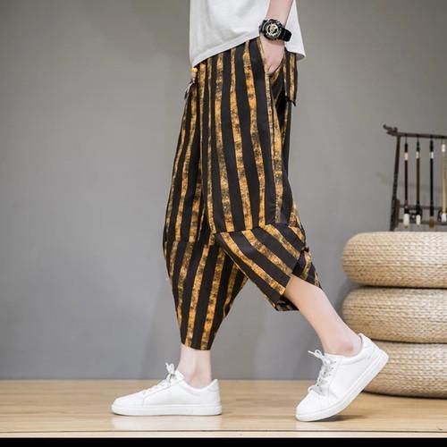Foto Produk harem joggers pants street fashion baggy stripe / celana hip hop garis dari Kuro-Shiro