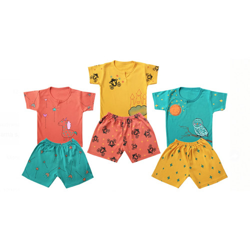 Foto Produk Kazel - Setelan Pendek CASTLE Edition - NEWBORN dari Chubby Baby Shop