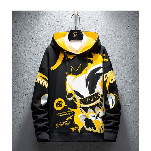 Foto Produk FortKlass Sweater Hoodie Pria Lengan Panjang Unisex DEVIL CLOWN - Hitam dari FortKlass